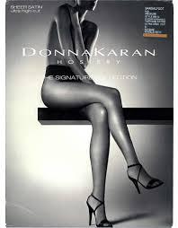 Donna Karan Tights Size Chart Donna Karan Signature Sheer Satin Ultra High Cut Tights Nude