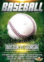 Baseball Brochure Template Baseball Flyer Template