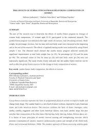pdf effects of zumba fitness program on body position of women