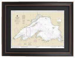Lake Superior Depth Chart Poster Size Framed Nautical Chart Lake Superior