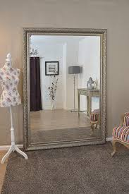 Large Silver Ornate Decorative Big Wall Mirror 7ft X 5ft 208cm X