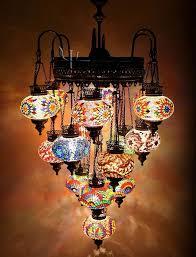 luxury mosaic chandelier the art of light mosaics for turkish chandelier