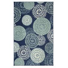 mohawk home foliage friends blue 8 ft x 10 ft area rug 004086 the home depot