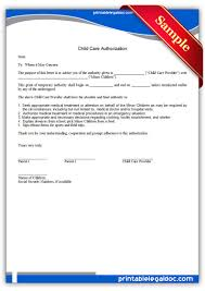 printable child care authorization legal forms legal printable child care authorization legal forms