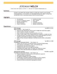 perfect resume format good office technician skill summary