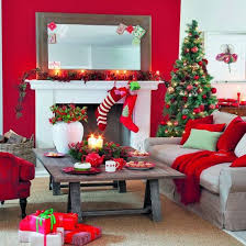 christmas living room decorating ideas. Red Walls, Inspiration For The Dollhosue: 55 Wonderful Christmas Living Room Décor Ideas: Dreamy With White Sofa Table Decorating Ideas S