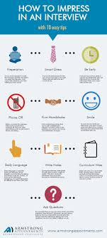 Infographic How To Impress In An Interview With 10 Easy Tips