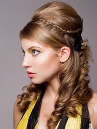 Half Ponytail Hairstyles Wedding Hairstyles Ideas Side Ponytail Curly Half Up Hairstyles