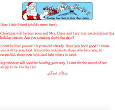 Free Letter From Santa Word Template Print At Home Letters From Santa Santa Claus Museum
