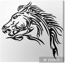 Obraz Tribal Kůň Tetování Na Plátně