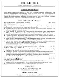 Resume Sample For Retail Job Retail Store Manager Resume Sample