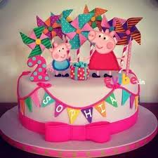 Order Cute Peppa Pig Theme Cake Online Birthday Cake In Bangalore