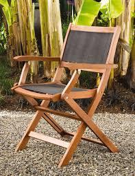 Folding patio chairs Plastic Images Sea Breeze Folding Armchairs Set Gardeners Supply Folding Patio Chairs Wood Armchairs Mesh Seat Back Gardenerscom