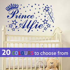 image is loading personalised prince custom name little baby boy wall  on personalised baby boy wall art with personalised prince custom name little baby boy wall art sticker