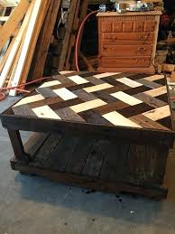 coffee tables made out of pallets love the look of this top herringbone pallet coffee table coffee tables made out of pallets