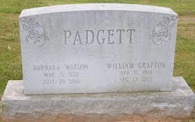 Barbara Aneta Watson Padgett (1922-2010) - Find A Grave Memorial