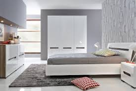 grey bedroom white furniture photo - 5