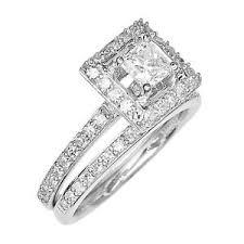 Princess Cut Diamond Chart Details About Engagement Ring 14k White Gold Princess Cut Diamond Halo Set 1tcw Size 5 0