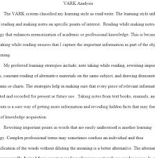 vark analysis paper regent essays vark analysis paper