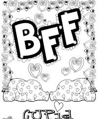 Best Friend Coloring Pages Getcoloringpagescom