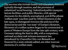 Презентация на тему an ideal welfare state categories of people  5 welfare state