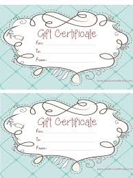 free printable blank gift certificates 9