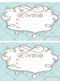 free printable blank gift certificates 9