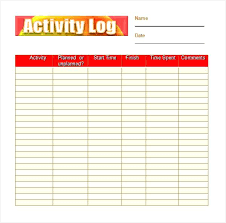 Workout Log Template Free Printable And Blank The Best Book Sample ...
