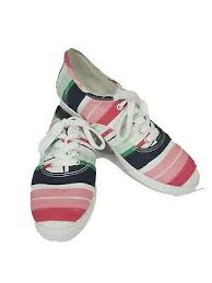 Women's Crown & Ivy RILEY multicolored stripes Canvas Sneakers •Size 9 |  eBay