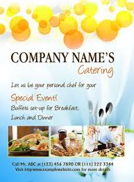 Ms Word Catering Flyer Template Office Templates Flyer Template