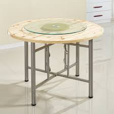 household table hotel solid wood fir big round tabletop hotel banquet round table catering folding round