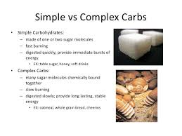 Fast Carbs And Slow Carbs Chart Simple Carbs Vs Complex Carbs Chart Www Bedowntowndaytona Com