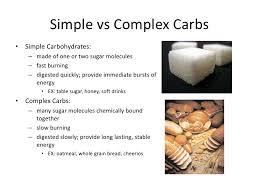 Simple Carbs Vs Complex Carbs Chart Www Bedowntowndaytona Com