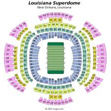 Superdome Seating Chart With Row Numbers 52 Symbolic Saints Stadium Seats