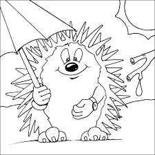 Small Picture Hedgehog Printable Coloring Page