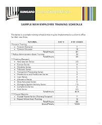 new hire training plan template. Employee Training Schedule Template Employee Training Plan Template