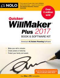 quicken willmaker plus edition book software kit editors quicken willmaker plus 2017 edition book software kit editors of nolo 9781413323108 books ca