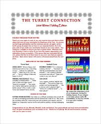 Sample Holiday Newsletter 10 Documents In Pdf Psd