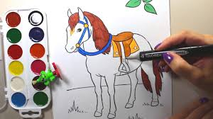 Horse Coloring Images Coloring Horses Pages Horse Coloring Pages
