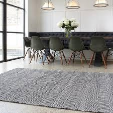sloan black white geometric rug by asiatic