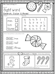Free Color By Sight Words In For School Xmas Maths Activities – prosib