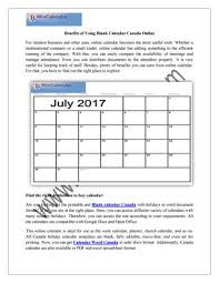 Wincalendar Com Printable Calendar Benefits Of Using Blank Calendar Canada Online Www