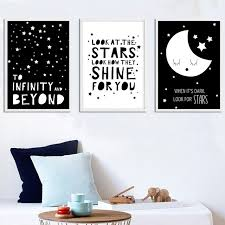 gzcjhp black white nursery quote wall art canvas posters nordic style prints painting cartoon pictures bedroom on beyond the wall art prints and posters with gzcjhp black white nursery quote wall art canvas posters nordic