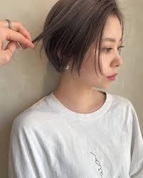 ワンレンショートやボブのヘアスタイル24選ワンレングスの前髪ヘア