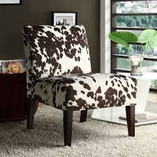 Peterson Cowhide Fabric Slipper Accent Chair by iNSPIRE Q Bold - Free  Shipping Today - Overstock.com - 14484656