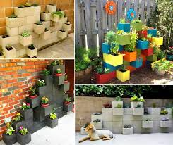 cinder block garden wall. Turn Old Besser And Cinder Blocks Into A Brilliant Garden Planter Wall Block