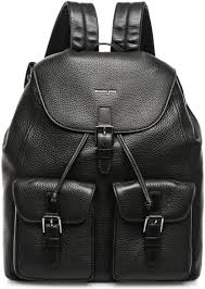 images gallery michael kors 33s6lytb9l 001 bryant drawstring backpack for men leather