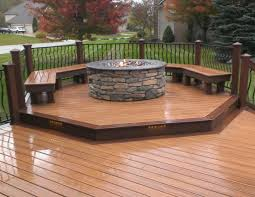 inspirational fire pits safe for wooden decks wood deck with fire pit