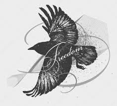 эскиз ворона может использоваться для тату логотип векторное