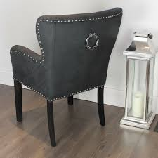charming gray rectangle contemporary leather dining room chairs with arms varnsihed ideas